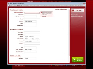 32red casino registration page