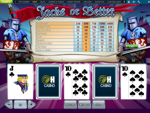 william hill casino jacks or better