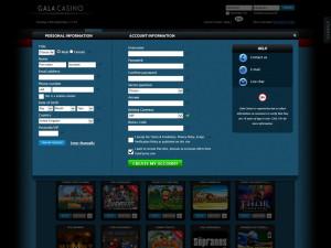 gala casino registration