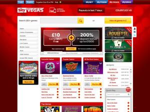 sky vegas homepage