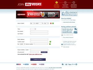 sky vegas registration