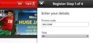 sky vegas mobile casino registration page