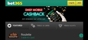 bet365 mobile casino homepage
